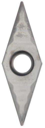 "Sandvik Coromant CoroTurn 107 Carbide Turning Insert, VCGX, 35 Degree Diamond, AL Chipbreaker, H10 Grade, Uncoated, VCGX 220-AL, 1/4"" iC, 0.008"" Corner Radius (Pack of 10)"