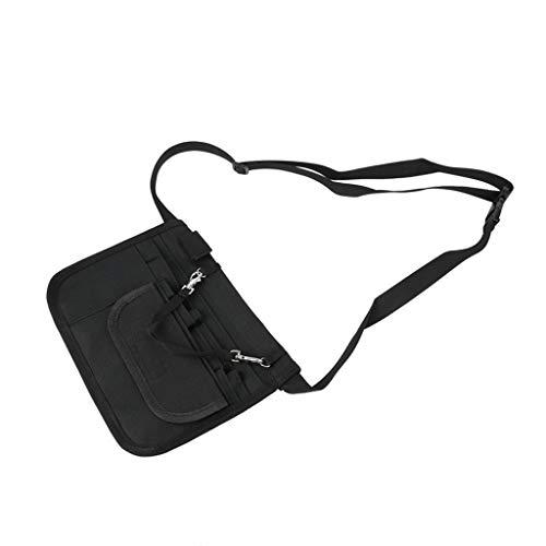 WDFVGEE - Cinturón organizador para enfermera con soporte para estetoscopio y soporte para cinta fácil de transportar, Black (Negro) - 3TT904950-BK_ENG1