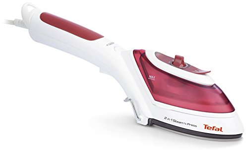Tefal DV8610 Steam n Press 2in1 Dampfbürste, 800 W, rot/weiß