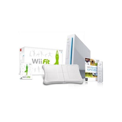 super popular 48712 84979 Nintendo Wii Console (Includes Wii Sports) + Wii Fit Bundle - UK PAL Version