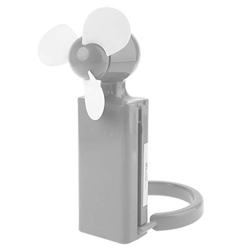 GREEN&RARE Ventilador portátil, enfriador de viaje de aire fresco para oficina al aire libre, mini ventiladores de escritorio, alimentado por 2 pilas AA de 1,5 V