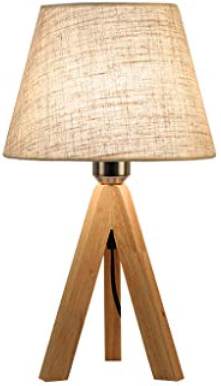 LQ Nordic Holz Tischlampe Stoff Kreative Persnlichkeit Schlafzimmer Nacht Einfache Moderne Wohnzimmer Studie Europischen stil Tischlampe