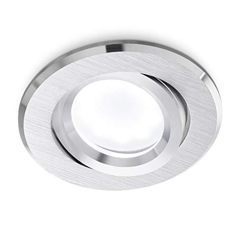 Faretto Incasso Gea Led Gfa130 Gfa131 Gfa132 Led Spot Orientabile Alluminio Spazzolato Bianco Nero Cartongesso Tondo Gu10, Alluminio spazzolato