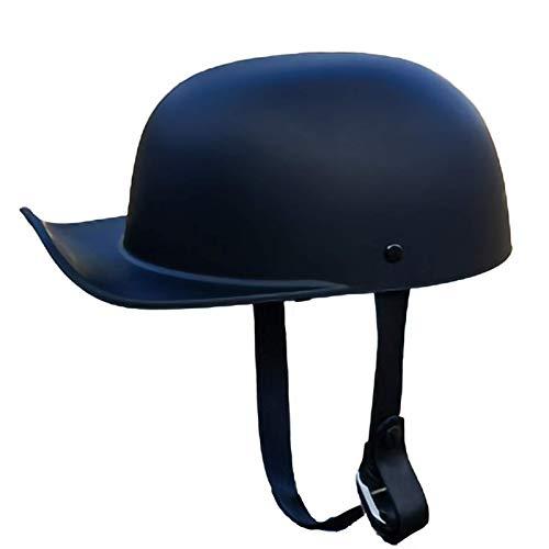SJAPEX Retro Motorrad Halbhelme, ECE-Zertifizierung,Baseball Cap Light Retro Motorradhelm Jethelme für Männer und Frauen, Vintage Jet-Helm mit Visier D,L=56~58cm