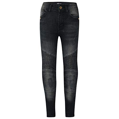 A2Z 4 Kids® Kinder Jungen Dehnbar Jeans Schwarz Designer - Boys Jeans J501 Black_9-10