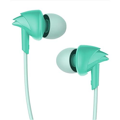 boAt Bassheads 100 in Ear Wired Earphones with mic(Mint Green)