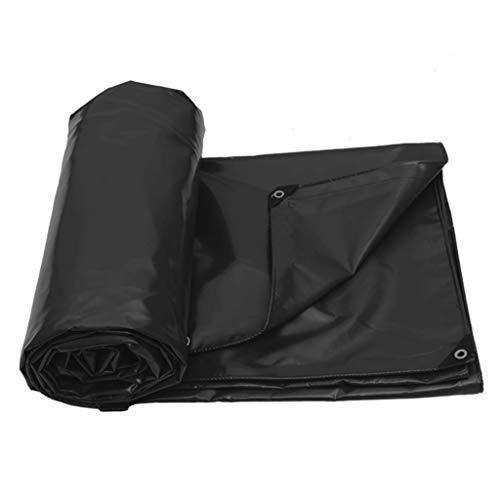 Bâche Épaisse De Protection Solaire Imperméable Imperméable Noire De Protection Solaire De PVC De 650 / ㎡ (Taille : 6x5m)