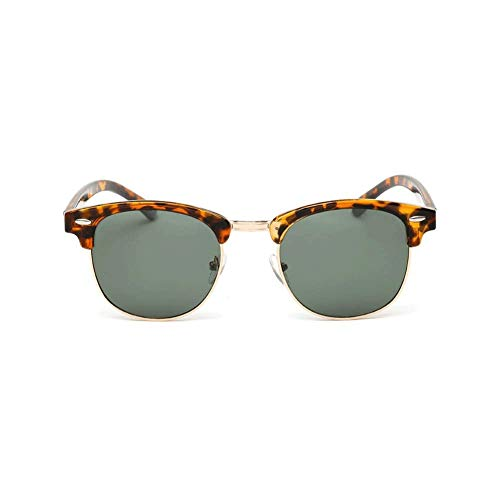 ZXTYJ Gafas de Sol polarizadas hexagonales Hipster Hombres Mujeres Cuadrado geométrico Pequeño Marco de Metal Vintage Gafas de Sombra Retro (Color : C)