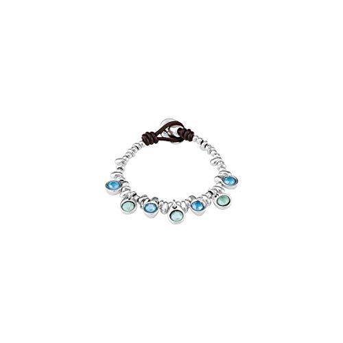 Uno de 50 PUL1832VRDMTL0M TESORO Pulsera Mujer Metal Cristales SWAROSVKI Talla M