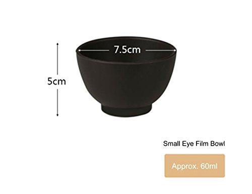 Elitzia ETBWP001 Maske Werkzeug Silikon Farbe Maske Schale Kosmetik Salon Pulver schwarz 4 Größe Optionen (7.5×5)