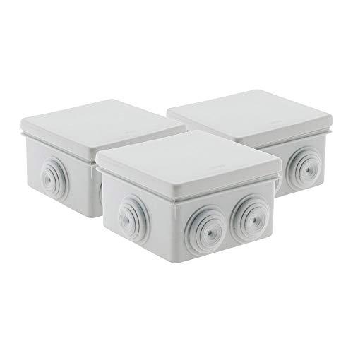 Zenitech Lot 3 Boîtes étanche carrée IP 55 - 80x80x46 mm