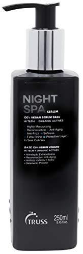 TRUSS Night Spa Serum - Overnight Hair Treatment - 100% Vegan Wax Base, Organic Actives - Moisturizing, Anti-Aging, Anti-Frizz Formula - Offers Softness, Extra Shine, Seals Hair Cuticle, 8.45 fl. oz.