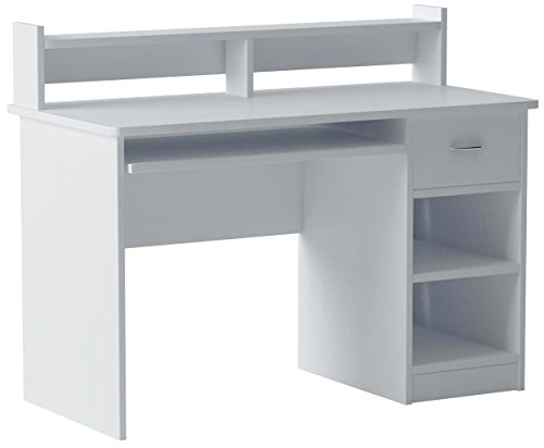 OneSpace Essential Computer Desk, Hutch with Pull-Out...