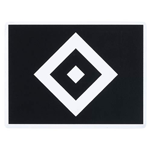 Hamburger SV Aufkleber Raute schwarz, Sticker transparent HSV - Plus Lesezeichen I Love Hamburg