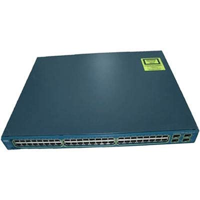 Cisco-Imsourcing Ws-C3560G-48PS-S Layer 3 Switch (48 Ports, Manageable, 48 x Poe, 4 x Erweiterungssteckplätze, 10/100/1000Base-T, Poe Ports, Rack-montierbar, Ws-C3560G-48PS-S (überholt)