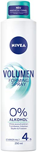 NIVEA Volumen Forming Spray (250 ml), formbares Volumen Spray für flexiblen Halt, Styling Spray