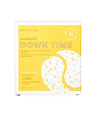 Patchology Down Time Under Eye Patches - Aromatherapy Under Eye Gels - Eye Mask For Dark Circles and Puffy Eyes Care, Treatment & Moisturizer - Eye Bags, Puffiness & Wrinkles Reducer (5 Pairs) from Iontera Inc