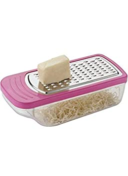 Khandekar Plastic Manual Cheese Grater Kitchen Grater Small Graters for Kitchen with Container and Lid for Cheese Vegetables Ginger - 5.5