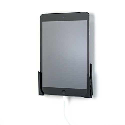 Dockem Koala Mount 2.0: Soporte Pared Tablet: Estación Universal Sin-Daño para Smartphone, Tablet, eReader: Compatible con iPad, 9.7, Air, Mini, Pro, Samsung Galaxy Tab/Note, Móvil, iPhone y Más [Negro]