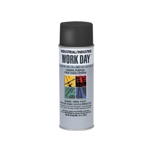 SHERWIN WILLIAMS A04402000 10 oz Gloss Black Krylon Spray Enamel