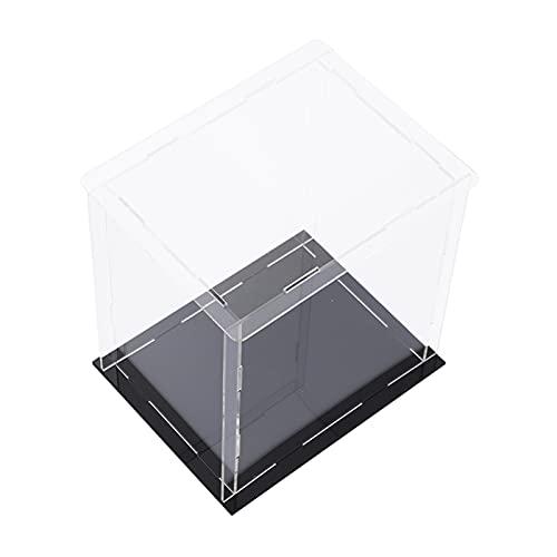 LM-Coat rack XINGLL Acrílico Vitrina Transparente, Caja Prueba Polvo, Cubo Extraíble para Coleccionables, Juguetes, Figuras, Manualidades, Protección Almacenamiento Muñecas, Autoensamblaje