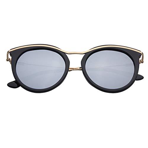 WOYBAOF Personalidad Ojos de Gato Gafas de Sol polarizadas de señora con Borde TR90 Protección UV para Conducir Gafas al Aire Libre Diseño de Moda clásico de Gama Alta (Color : Sliver)