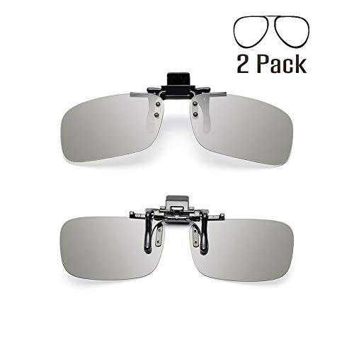 Genovation Unisex Adult Polarized 3D Clip-on Glasses 2 Pack (RealD & IMAX)