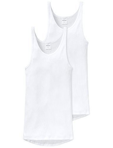 Schiesser Herren Unterhemd 2 er Pack 005051-100, Gr. 9 (3XL), Weiss