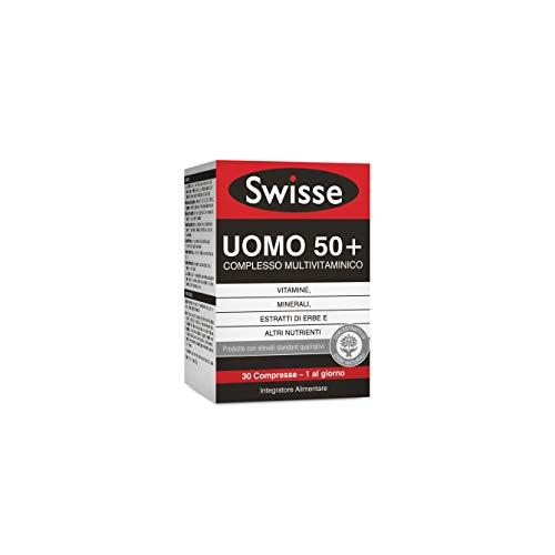 Swisse Multivitaminico Uomo 50+, Integratore Alimentare Multi-nutriente per Integrare l'Alimentazione degli Uomini over 50, 30 Compresse