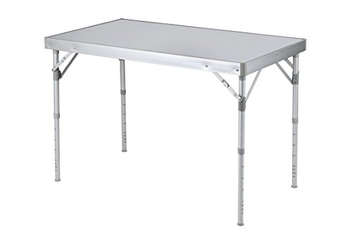 Bo-Camp massiv Alu Camping table-100 X 60 cm, grau, 100 x 60 x 70 cm