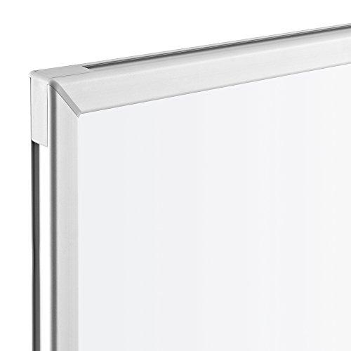 magnetoplan 1240489 Whiteboard mit Fahrgestell, speziallackierte Oberfläche, komplett mit Ablageschale für Marker und Zubehör, 1200 x 900 mm - 2