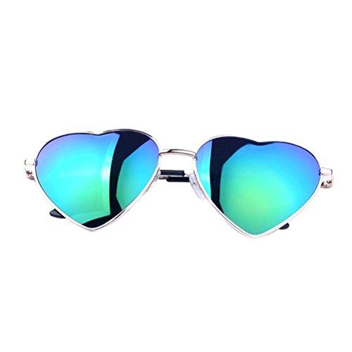 OULII Lens Sunglasses Metall aus Metall Polarisierte Aviator Gespiegelt für Frauen - Grün