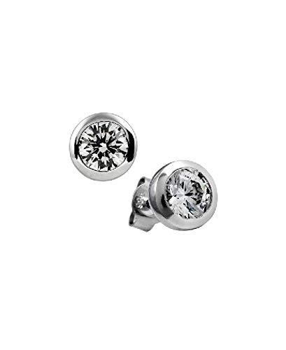 Diamonfire Damen-Ohrstecker 925 Sterling Silber Zirkonia Carats Linie weiß 62/1271/1/082