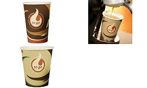 PAPSTAR koffiebeker van hard papier, Coffee To Go, 0,3 l, je ontvangt 1 verpakking, inhoud verpakking: 50 stuks