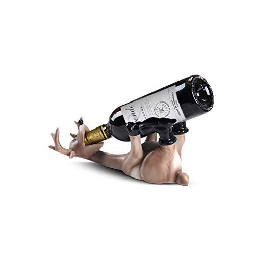MQH Estantería de Vino Soporte de Botella de Vino Creativo de Ciervos con Titular de Vino del Titular de Vino para la exhibición de encimera para el hogar y la Oficina Estantería de Botellas