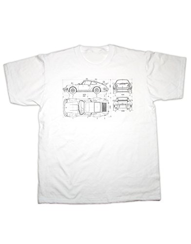 Hotfuel 911 Turbo Blueprint Shirt. Alle Größen