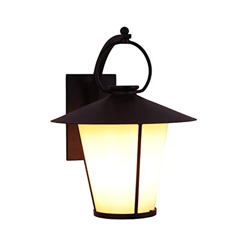 Lámpara De Pared American Vintage Black E27 Loft Lámpara De Pared Antigua Linterna Impermeable Al Aire Libre Continental Villa Jardín Patio Terraza Balcón Impermeable Luz De Pared Externa