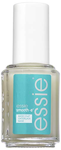Essie Base Coat smooth-e mit Ceramiden, Rillenfüller und Schutz der Nägel vor Verfärbung, 13,5 ml