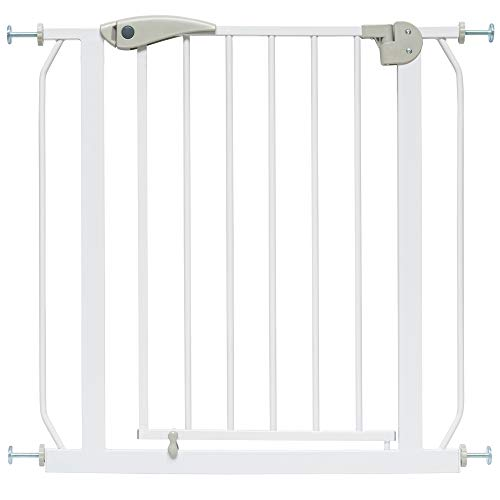 ib style Berrin Cancelletto di sicurezza 67-175cm | per porte o scale | Senza perforazione | 90° Stop | Auto-Close | 67-75 cm