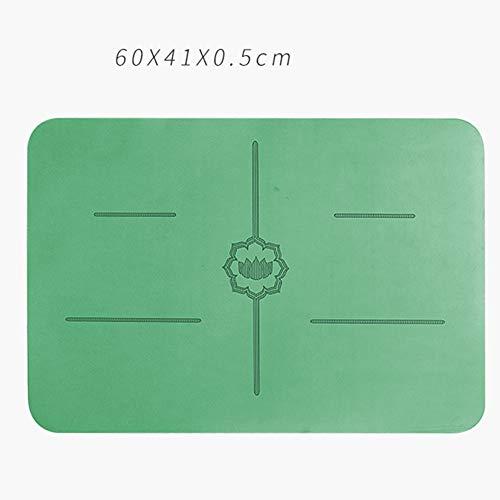 Yogamat, mini natuurlijke rubberen antislip ondersteuningsmat, kleine vierkante draagbare omgekeerde mat, fitnessmat