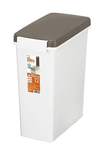 トンボ ゴミ箱 11.5L 日本製 中バケツ フタ付き タッチタイプ 消臭 パッキン付 ホワイト デオキープ 新輝合成