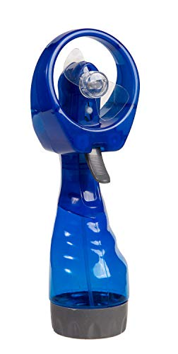 Out of the Blue 61/7034 Ventilator mit Sprühflasche, ca. 29 cm, blau, aus Kunststoff, batteriebetrieben, im Geschenkkarton