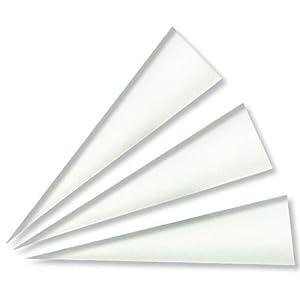 Schultüte Rohlinge weiß, 70 cm, 10er-Pack - Zuckertüte Schultüte basteln - Schultütenrohlinge