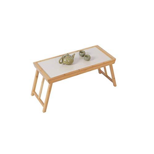 Mesa de centro plegable pequeña de bambú para salón, mesa de café,...