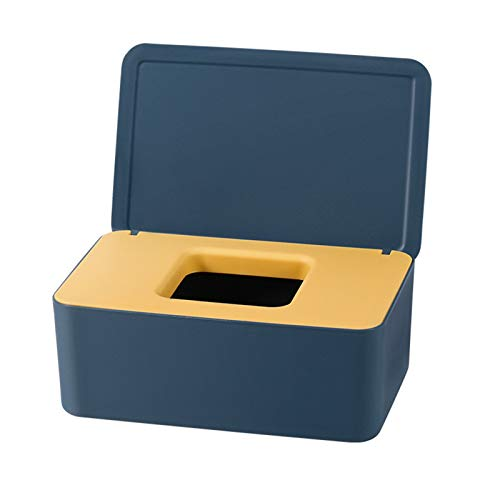 Caja de pañuelos con tapa Toallitas de bebé Dispensador Bolsa para servilleta húmeda Caja de almacenamiento para coche en casa