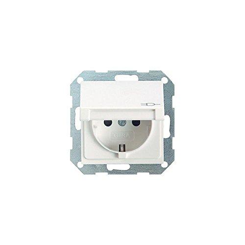 GIRA Serie Standard 55 - reinweiß glänzend (045403) Steckdose Klappdeckel