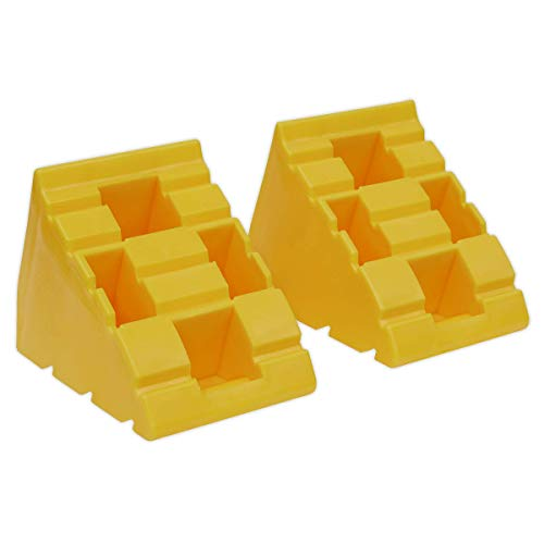 Sealey WLC01 Levelling Ramp Chocks-Pair