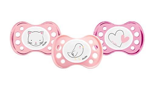 petit un compact Sucette Anatomique Dodie Newborn Girl A25 pour bébé de 0 à 2 mois