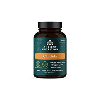 Gut Health Supplement by Ancient Nutrition Candida Capsules Provides Occasional Diarrhea Constipation Gas and Bloating Relief Supports Immune Function Gluten Free and Keto Friendly 60 Capsules