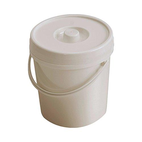 Windeleimer 12l weiß mit Deckel und Bügel d=27,5cm